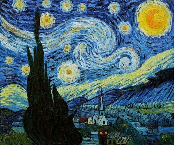 Van-Gogh-font-b-Starry-b-font-font-b-night-b-font-Hand-Painted-Oil-Painting